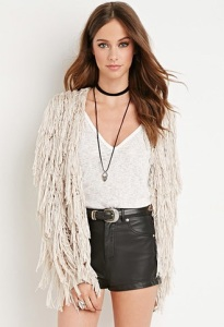 Fringed Open-Knit Cardigan $32.90 Forever21.com