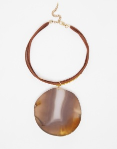 ASOS Oversized Agate Stone Choker Necklace $13.50